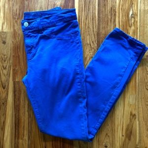 J Brand Skinny Leg Jeans in Royal Blue Size 27